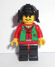 Lego Ninja Figur (cas053), Räuber mit Helm aus den Sets 6089 6088 6045 3016 6033
