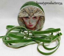 "Vintage 7//8/"" VELVET RIBBON 3yds Hairband Sage Green Straps Swiss"