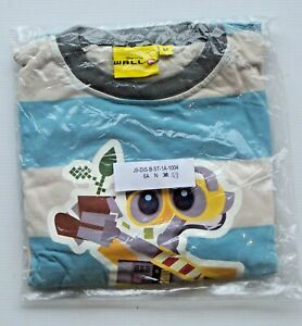 NEW DISNEY PIXAR SIZE 6 WALL-E PYJAMA SET T-SHIRT & PANTS BOYS GIRLS SIX YEARS