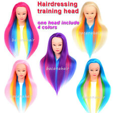 Cosmetology Human Hair Hairdressing Practice Mannequin Training Head Salon Tools