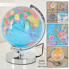 Lampe de table Lampe de séjour Chrome Lampe de chevet Globe lumineux Variateur