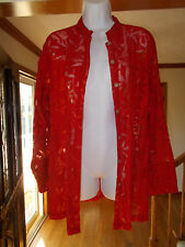 Chico's Red See-Through Blouse - Size 1