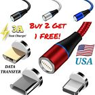Magnetic Phone Charger Cable, DATA TRANSFER - 3 AMP FAST Charge, 3 in 1 Plugs