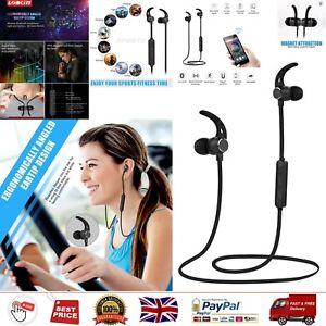 Bluetooth Wireless Headphones Mic Sports Sweatproof Workout Running Gym HD Sound
