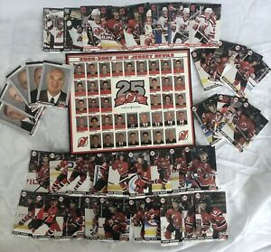New Jersey Devils 06-07 25th Anniversary SGA Rare Team Set Cards & Photo New
