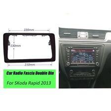 2 Din Radio Stereo Frame Fascia Dash Panel for SKODA Rapid 2013