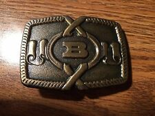 "Vintage ""B"" Bronze Belt Buckle by ODEN INC."