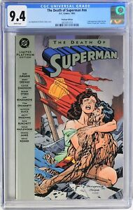 S254. THE DEATH OF SUPERMAN #nn DC CGC 9.4 NM (1993) PLATINUM EDITION; WHITE Pgs