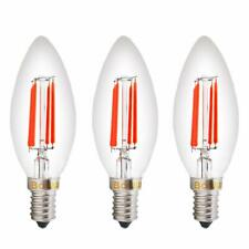 4W SES LED E14 Decorative Red Filament Fireglow Candle Light Bulb 40W Replacment