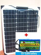 Kit Fotovoltaico  LITIO Batteria DC 12v 13.8Ah  + 50W Pannello Solare / Eolico