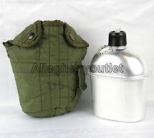 USGI Military Vietnam Era 1 QUART CANTEEN COVER 1QT VGC w NEW Aluminum Canteen