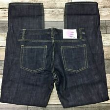Academi (Love Japan) Raw Relaxed Selvage Jeans Men's 34x33 Dark Blue Button Fly