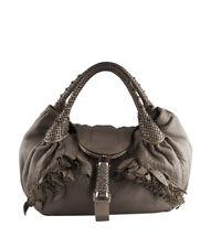 Fendi 8BR511 Spy Brown Leather Shoulder Bag