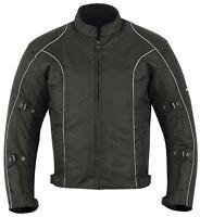 Mens CE Armoured Motorcycle Motorbike Waterproof Cordura Textile Jacket S - 5XL