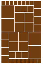 42 BROWN SQUARE VINYL WALL DECALS STICKERS GIRL BEDROOM Teen Baby Nursery Dorm