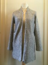 Principles Textured Coatigan Knitted Jacket Petite Size 10 Uk BNWT Pale Grey
