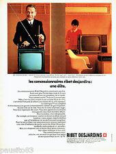 PUBLICITE ADVERTISING 096  1969   Ribet-Desjardins   téléviseur portable