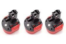 3x Bateria 1500mAh para Bosch GSR 9.6-1, GSR 9.6-2, GSR 9.6V, PSR 960