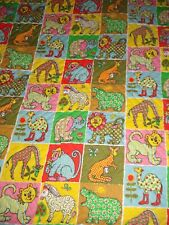 Vtg Adorable Kids Children Full Quilt Colorful Vintage Excellent Nursery