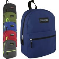 "Lot of 24 Wholesale Bulk 17"" School Backpacks Backpack Bag New - 6 Colors"