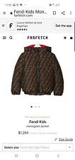 Fendi kids children' unisex jacket coat size 8