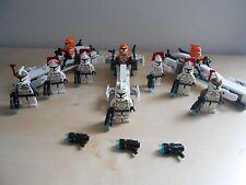 Lego Star Wars Minifigures. Lot of 10 Clones plus accessories.