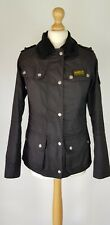 L177 WOMENS BARBOUR STOCKLAND BLACK WAX JACKET UK 8