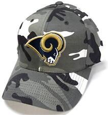 super popular ce95f 8c400 Los Angeles Rams NFL Team Apparel Gray White Woodland Camo Hat Cap  Adjustable