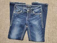 Silver SUKI SURPLUS Thick Stitch Flap Pocket Bootcut Jeans Women's Size 26x30