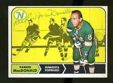 1968-69 Topps #55 PARKER MacDONALD Autograph/Auto Card Minnesota North Stars