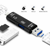 New 5 in 1 USB 3.0 Type C / USB / Micro USB SD TF Memory Card Reader OTG Adapter