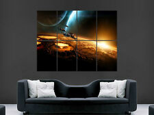 SPACESHIPS FANTASY POSTER PLANET SUN EARTH SPACE GIANT LARGE WALL ART POSTER