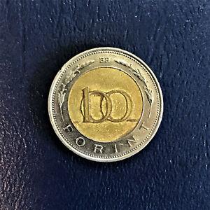 1996 Hungary Magyar Népköztársaság 100 Forint Száz Florint Shield Pajzs 1st Year