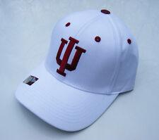 dcdb23fb71980 white Indiana University IU HOOSIERS NCAA Basketball Adjustable Baseball Hat  NWT