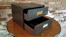 Vintage 1930s Small Parts 2 drawer tool cabinet Marshall Industrial Storage loft