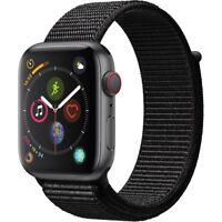 Apple Watch Gen 4 Series 4 Cell 44mm Space Gray Aluminum - Black Sport Loop