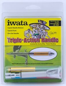 Iwata Airbrushes Triple Action Handle Gentry Riley K155 One Set 5 Handle Colors