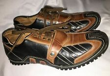 Men's Evergreen Driving Shoes Black & Brown Lace Up Size 9