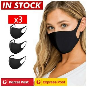 3 x Washable Unisex Face Mask Mouth Masks Protective Reusable NOW IN STOCK