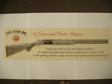 Original Sturm Ruger over and under shotgun Display Paper sign poster