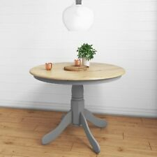 Round Dining Table in Grey and Oak