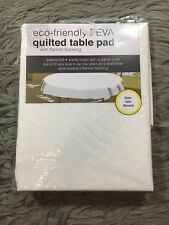 New listing Eco-friendly Peva Vinyl Quilted Table Pad Cloth Flannel Backing 52 Inch Round