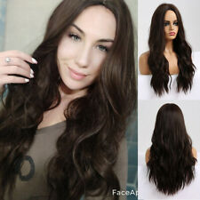 Women Hair Wigs Afro Synthetic Brown Black Grey Blonde Long Natural Wave Cosplay