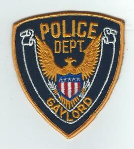 VINTAGE GAYLORD, MINNESOTA POLICE DEPT. (CHEESE CLOTH BACK) patch