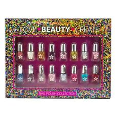 16 x Mini Nail Art Varnish Glossy Glitter Polish Girl Heaven Xmas Gift Set Girls