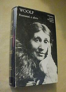 Virginia Woolf ROMANZI E ALTRO / I Meridiani Mondadori 1980