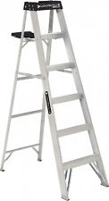 6 LOUISVILLE Aluminum Work Step Ladder Non-Slip w/ Tool Slots Folding Latter