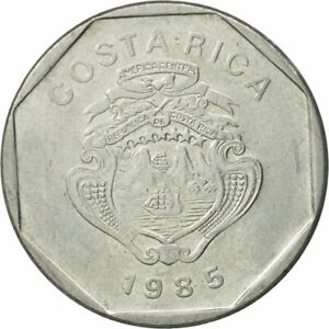 [#527131] Coin, Costa Rica, 10 Colones, 1985, EF(40-45), Stainless Steel
