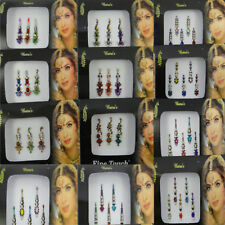 12 Pc Multicolore Assorties Bindi Full Packs Front Indien Tatouages Tikka