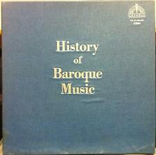 Various - History Of Baroque Music 3 LP Mint- OR 331/332/333 Vinyl 1979 w/Insert